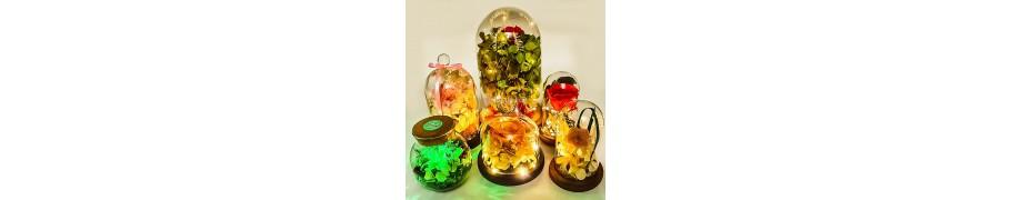 Wieczne róże w szkle, kloszu, szklanej kuli - FloralaFun
